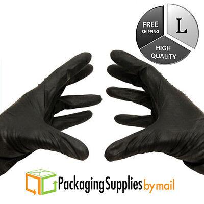 Black Nitrile Gloves 4 Mil Powder-free Medical Exam Size Large 100 Pieces