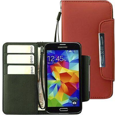 Handytasche für Samsung Galaxy S5 Case Etui Hülle Phone S 5 rot Phone Cases Für Galaxy S5