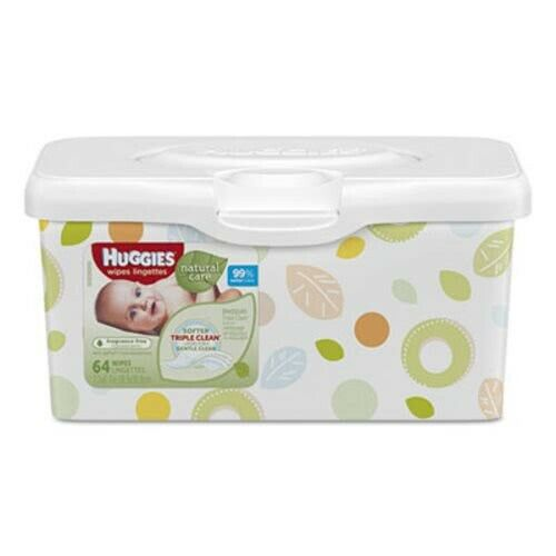 Huggies Natural Care Baby Wipes, Unscented, 4 Tubs (KCC39301)