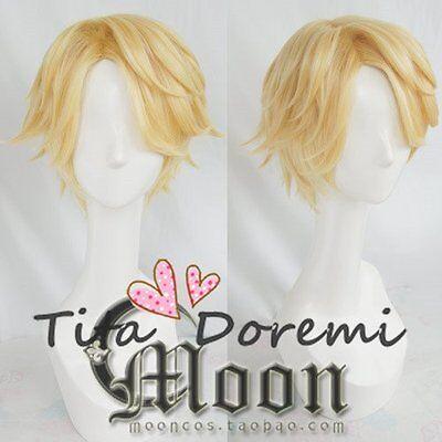 Halloween Perücke Cosplay Mystic Messenger Yoosung blonde fashion Kurze Haar ()