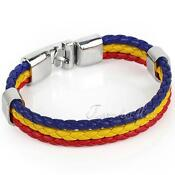 Mens Bracelet Leather Braided