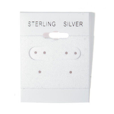 1000 Sterling Silver White Hanging Earring Cards Display 2 X 1 12 With Lip