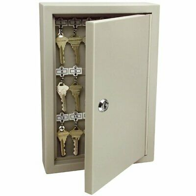 Heavy Duty 30 Key Cabinet Storage Wall Mounted Organizer Steel Lock Holder Tags