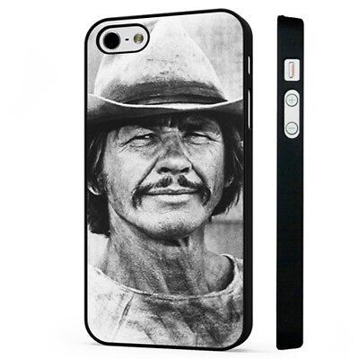 Charles Bronson Iconic American Actor BLACK PHONE CASE COVER fits iPHONE