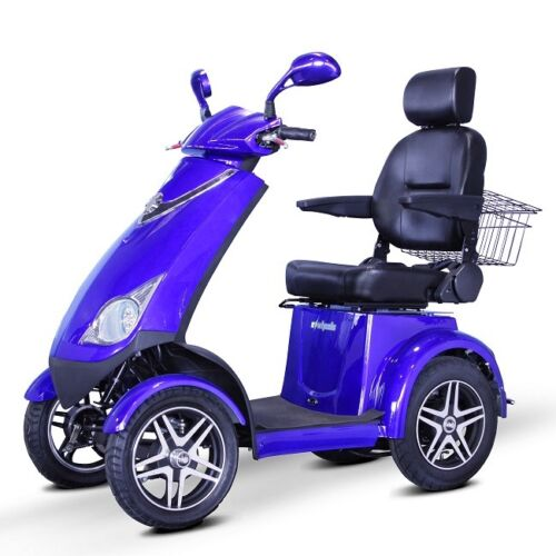 Blue Ewheels Ew-72 Fast Hd 4 Wheel Mobility Scooter, Goes Up To 15 Mph, 500 Lb