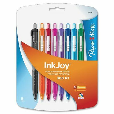 Paper Mate Inkjoy Medium Ballpoint Pens Assorted Colors 8 Pack 1781564