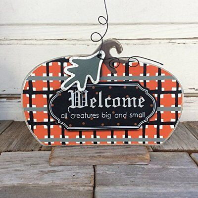 All Halloween Creatures (AGD Halloween Decor - Welcome All Creatures Primitive Plaid)
