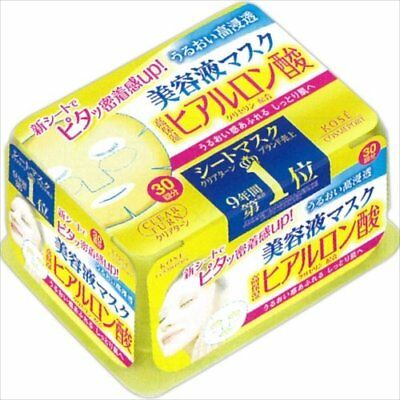KOSE Clear Turn White Face Skin Mask 30 sheets japan  Hyaluronic acid