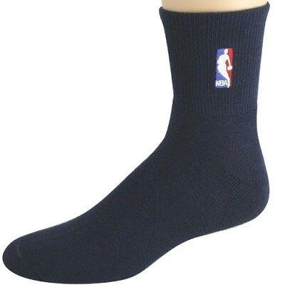 NBA Basketball Logoman Navy Quarter Socks Men's New