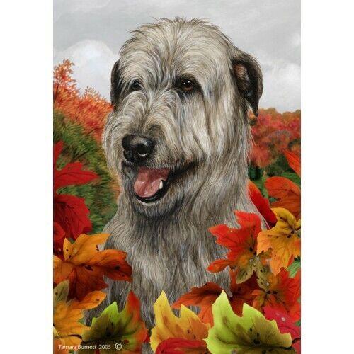 Fall House Flag - Grey Irish Wolfhound 13329