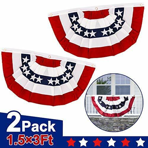 Independence Day US Bunting Banner 4th of July Decoration Memorial Day Fan Flag