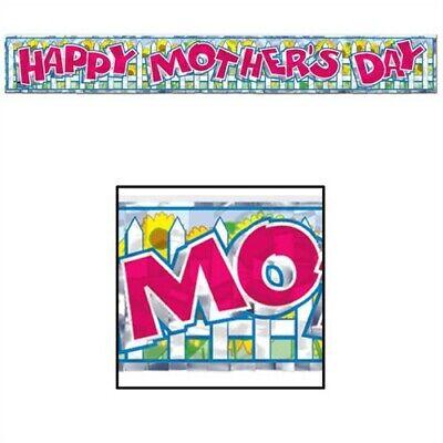 Happy Mother's Day Metallic Fringe Banner Mothers Day Decor Decorations (Mothers Day Decorations)