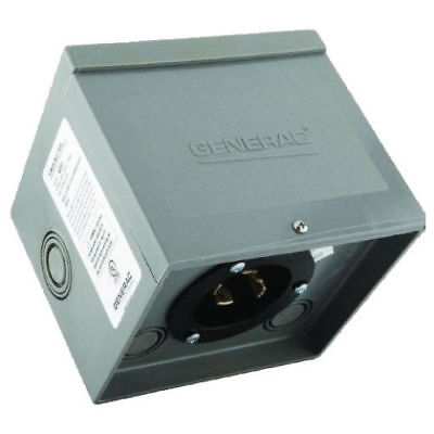Generac 30 Amp Raintight Resin Power Inlet Box Model 6337 Gentran 14303