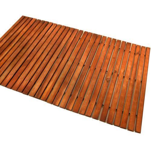 wooden bath mat ebay. Black Bedroom Furniture Sets. Home Design Ideas