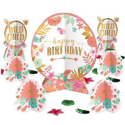 1st BIRTHDAY Boho Girl TABLE DECORATING KIT (27pc) ~ Party Supplies - 1st Birthday Girl Party Supplies