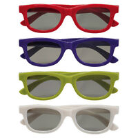 Paquet de 4 paires de lunettes 3D neuves/ New 4-Pack 3D Glasses