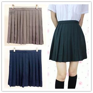 japanese high school solid pleated mini skirt sailor