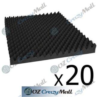 20x Studio Acoustic Eggshell Foam Sound Absorption Panel 50x50cm