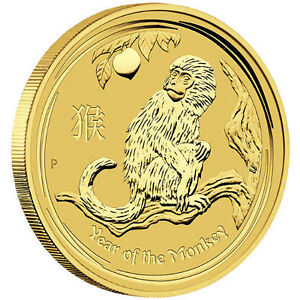 1 oz Pièce Or Pur Singe Gold Perth Mint Year Monkey Coin 2016