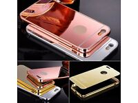 New Luxury Gold Aluminum Metal Bumper Mirror Back Case For Samsung Galaxy S5