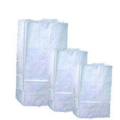 4lb White Duro Paper Grocery Bags Flat Bottom 50pkg