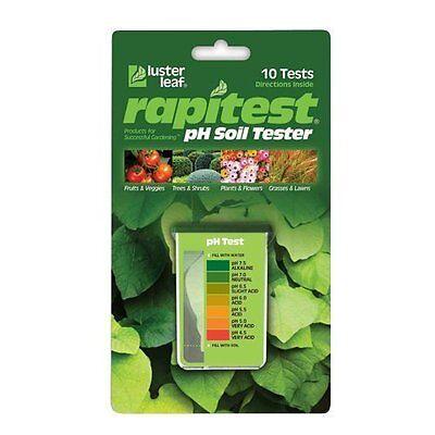 LUSTER LEAF 1612 RAPITEST Dirt Soil Plant Garden PH Meter Tester 10 Test - Luster Leaf Rapitest Soil