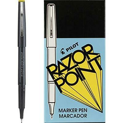 Pilot Razor Point Fine Line Marker Stick Pens Ultra-fine Point 0.3mm Black