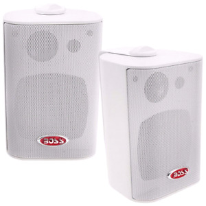 Boss  200-Watt Weatherproof 3-Way Speaker  - White - Pair