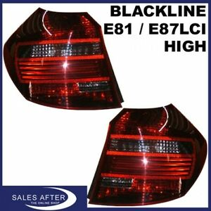 Original BMW 1er E81 E87 LCI Heckleuchten Blackline HIGH Rückleuchten Black Line