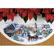 Cross Stitch Tree Skirt Kit