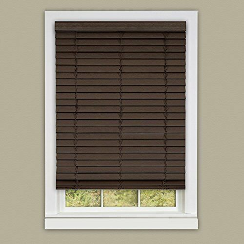 "Set of 2 Achim Cordless Madera Falsa 2"" Faux Wood Plantation"
