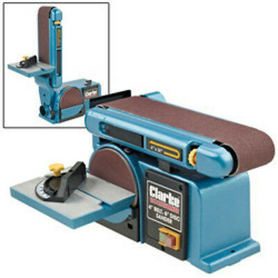 "CLARKE CS4-6D WOODWORK CARPENTERS 4"" x 6"" BELT DISC AND SANDER 6500412"