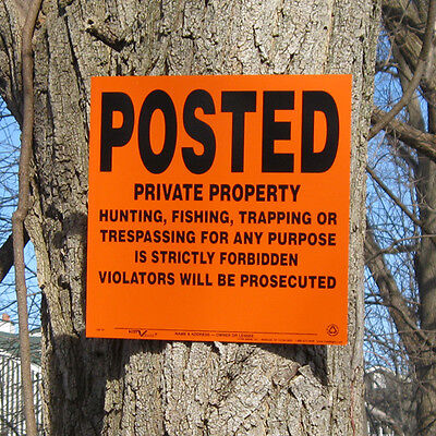 Lot of 50 POSTED Private Property Hunting Signs
