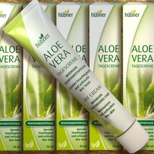 Hübner Aloe Vera Tagescreme 50ml Pflege Feuchtigkeit Frische jede Haut Panthenol