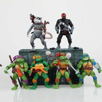 Teenage Mutant Ninja Turtles Action Figures Leo Donnie Raphael Mikey 6 Pcs set](Turtles Kids)