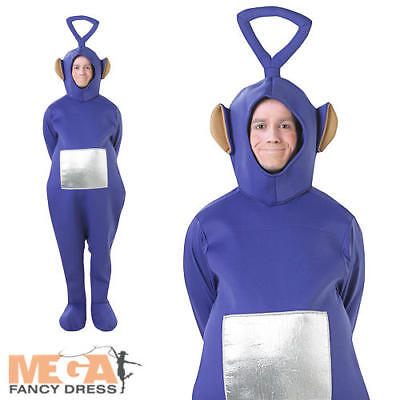 Tinky Winky Purple Teletubby Adult BBC Licensed Fancy Dress Teletubbies Costume - Tinky Winky Halloween Costume