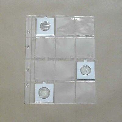 15 inlegbladen formaat FDC voor munten - 15 feuilles pour pièces de monnaie
