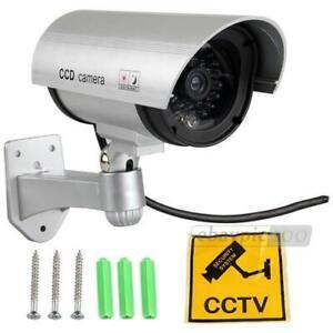 Decoy CCTV Security Camera w/ flashing LED Light Indoor/outdoor