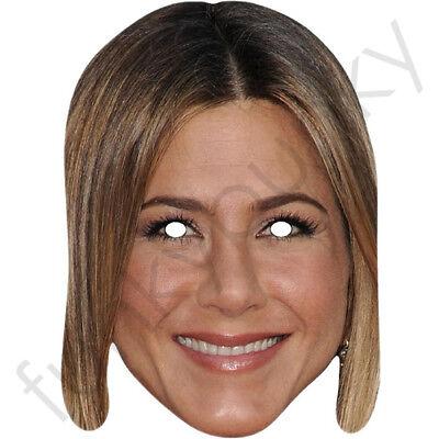 FRIENDS Rachel Jennifer Aniston Celebrity Card Mask - All Masks Are Pre-Cut!