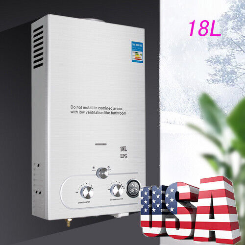 18L 4.8GPM Tankless LPG Propane Gas Hot Water Heater Instant Boiler Free Ship