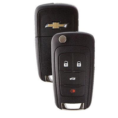 New Flip Key Keyless Entry Remote Key Fob for Chevrolet 4-button