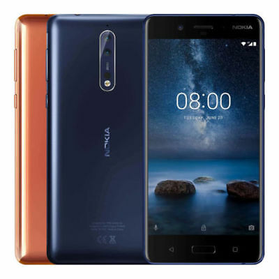 Nokia 8 64Gb Ta 1052 Dual Sim  Factory Unlocked  5 3  4Gb Ram Silver Blue Gold