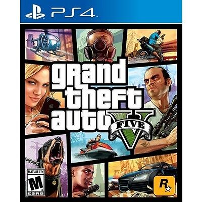 New Sealed Grand Theft Auto V Playstation 4  No Tax  Lowest Price  Free Shipping