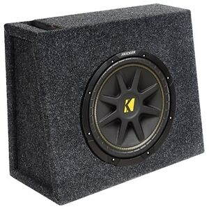 Kicker CompR 8in Slim Loaded Subwoofer Enclosure-NEW IN BOX
