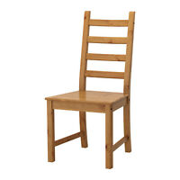 Set of 2 Solid Pine Dining Chairs