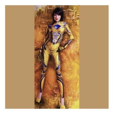 Womens Sexy Power Ranger YELLOW Bodysuit Halloween Adult Costume Medium - Sexy Power Ranger Kostüm