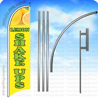 Lemon Shake Ups - Windless Swooper Flag Kit Feather Banner Sign 15 - Yb