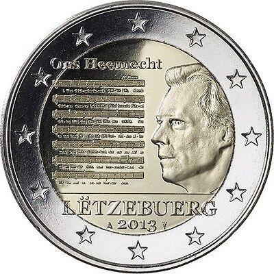 * 2 EURO COMMEMORATIVE - UNC - LUXEMBOURG 2013 - HYMNE NATIONAL
