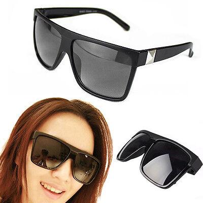 Unisex Vintage Large Square Frame Flat Top Outdoor Sunglasses Couple Gift Proper