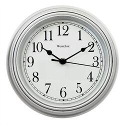 Westclox 46984A Wall Clock, Round, Analog, Silver Frame